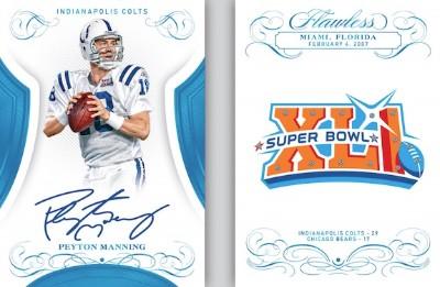 Super Bowl Gems Auto Booklet Peyton Manning MOCK UP