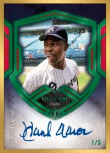 Transcendent Collection Auto Emerald Hank Aaron MOCK UP