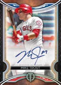 Tribute Career Achievement Award Auto Continuity Mike Trout MOCK UP