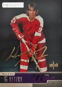 1999-00 UD CHL Prospect Buyback Auto Wayne Gretzky MOCK UP
