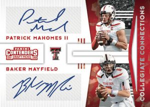 Collegiate Connections Signatures Patrick Mahomes II, Baker Mayfield