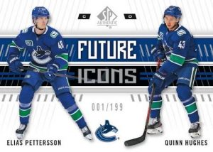 Future Icons Quinn Hughes, Elias Pettersson MOCK UP