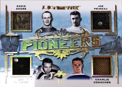 Pioneers 4 Relics Eddie Shore, Joe Primeau, Dit Clapper, Charlie Conacher
