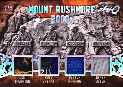 Q Mount Rushmore Relics Joe Thornton, Kobe Bryant, Peyton Manning, Derek Jeter