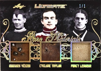Rare Materials 3 Relics Georges Vezina, Cyclone Taylor, Percy LeSueur