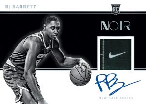 Rookie Patch Auto Black and White RJ Barrett MOCK UP