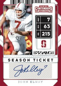 Season Ticket Auto John Elway