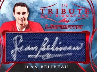 Ultimate Tribute Cut Signatures Jean Beliveau