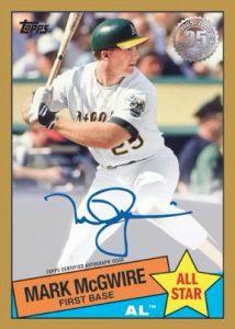 1985 Topps Baseball 35th Anniversary Auto Mark McGwire