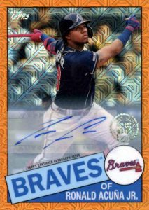 1985 Topps Chrome Auto Series 1 Orange Refractor Ronald Acuna Jr