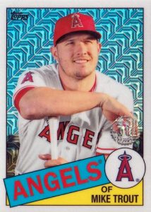 1985 Topps Chrome Silver Pack Series 1 Base Mike Trout