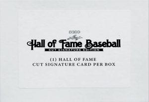 2020 Leaf Hall of Fame Baseball Cut Signatures