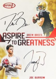 Aspire to Greatness Dual Auto Drew Brees, Joe Burrow