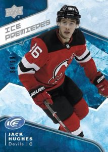 Base Ice Premieres Rookie Level 1 Jack Hughes MOCK UP