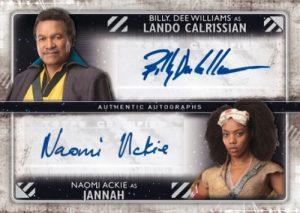 Dual Auto Billy Dee Williams as Lando Calrissian, Naomi Ackie as Jannah