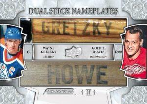 Dual Stick Nameplates Wayne Gretzky, Gordie Howe