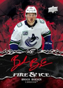 Fire and Ice Fire Auto Brock Boeser MOCK UP