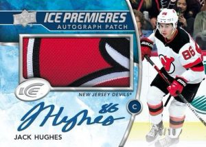 Ice Premieres Auto Patch Jack Hughes MOCK UP