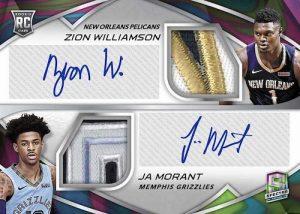 Rookie Dual Patch Auto Nebual Zion Williamson, Ja Morant MOCK UP