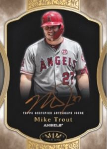 Tier One Auto Bronze Mike Trout