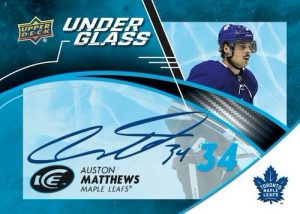 Under Glass Signatures Auston Matthews MOCK UP