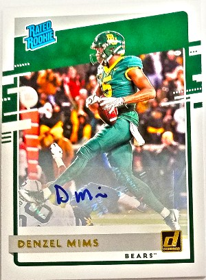 Donruss Rated Rookies Draft Picks Auto Denzel Mims