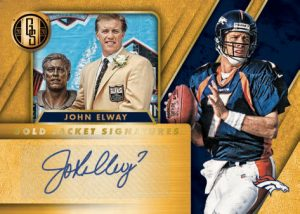 Gold Jacket Signatures John Elway MOCK UP
