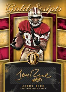 Gold Scripts Auto Jerry Rice MOCK UP