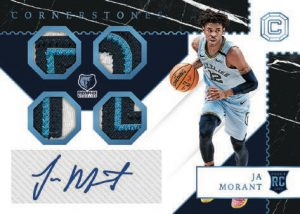 Rookie Cornerstones Auto Relics Ja Morant MOCK UP