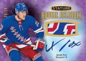 Rookie Reliance Patch Auto Purple Adam Fox MOCK UP