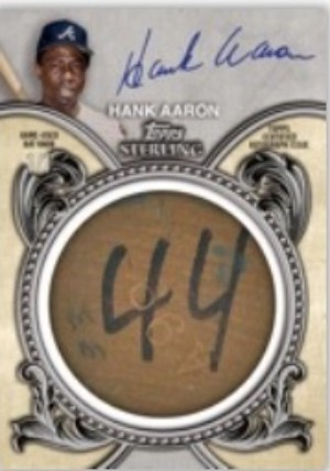 Sterling Auto Bat Knobs Hank Aaron