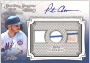 Sterling Seasons Auto Relic Blue Pete Alonso