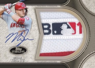 Sterling Splendor Jumbo Patch Auto Mike Trout
