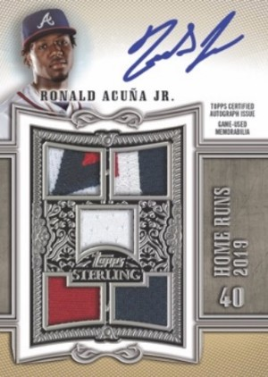 Sterling Swings Auto Relics Silver Ronald Acuna Jr