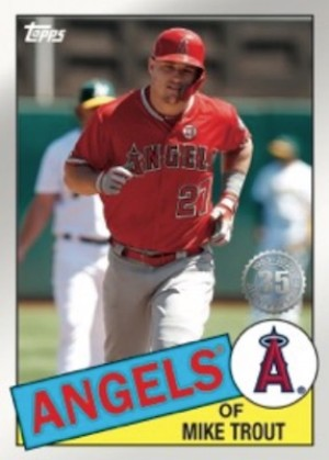 1985 Topps Baseball Mike Trout MOCK UP