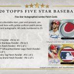 2020 Topps Five Star Baseball