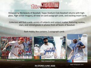 2020 Topps Stadium Club Baseball