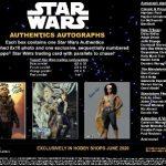 2020 Topps Star Wars Authentics Autographs 8x10