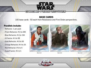 2020 Topps Star Wars Chrome Perspectives Resistance vs. The First Order