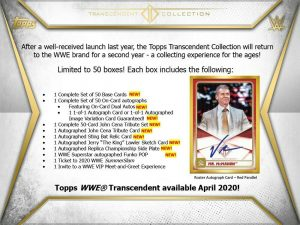 2020 Topps Transcendent Collection WWE