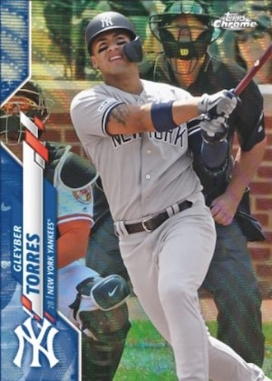 Base Blue Wave Refractor Gleyber Torres MOCK UP