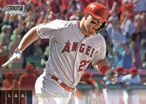 Base Chrome Mike Trout MOCK UP