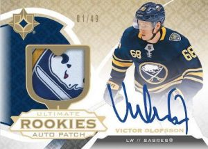 Base Ultimate Rookie Auto Patch Victor Olofsson MOCK UP