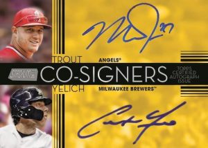 Co-Signers Mike Trout, Christian Yelich MOCK UP