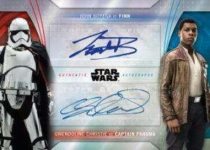 Duel Dual Auto John Boyega as Finn, Gwendolyne Christie as Captain Phasma