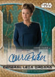 Resistance Auto Carrie Fisher as General Leia Organa