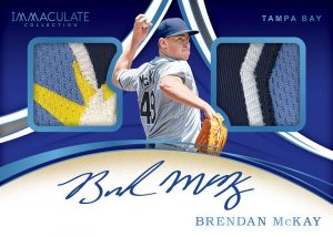 Rookie Dual Memorabilia Signatures Brendan McKay MOCK UP