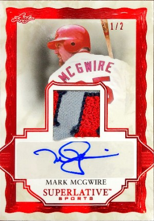 Superlative Signature Memorabilia Mark McGwire