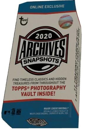 2020 Topps Archives Snapshots Baseball
