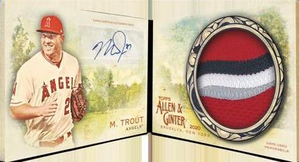 A&G Auto Relic Book Mike Trout MOCK UP
